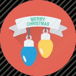 bulb, christmas lights, decoration, lights, xmas icon