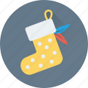 christmas, christmas stocking, socks, stocking, xmas icon