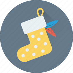 christmas, christmas stocking, socks, stocking, xmas icon