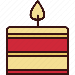 candle, christmas, decoration, night candle icon