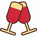 alcohol, bar, champagne, glass, liquor, tasting icon