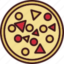 fast, food, pepperoni, pie, pizza icon