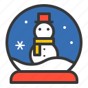 christmas, snow globe, snowman, winter, xmas icon