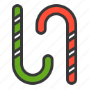 candy, candycane, christmas, sweets, xmas icon