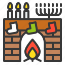 chimney, christmas, fireplace, warm, xmas icon