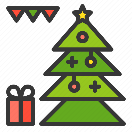 Celebration, christmas, gift, party, pine, xmas icon - Download on Iconfinder