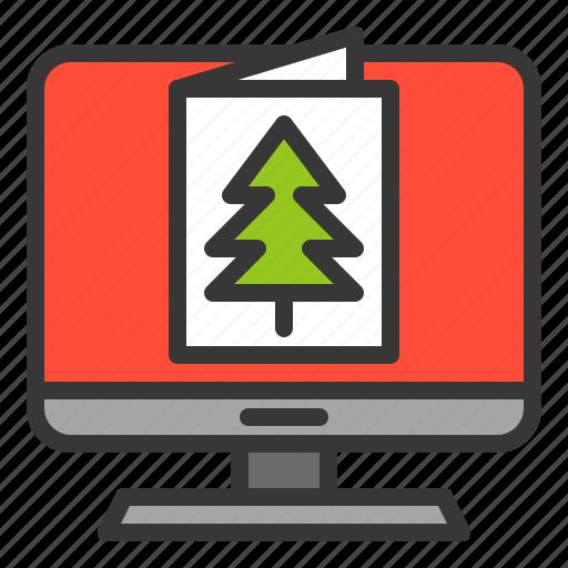 christmas, christmas card, greeting card, screen, xmas icon