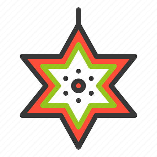 Christmas, decoration, hanging star, star, xmas icon - Download on Iconfinder