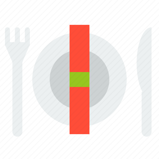 christmas, dish, fork, knife, merry, plate icon