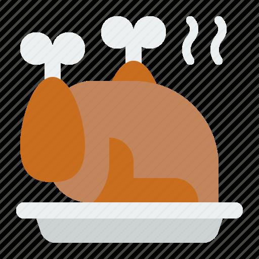 Chicken, christmas, merry, roast chicken icon - Download on Iconfinder