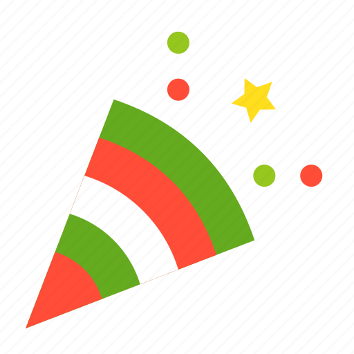 celebration, christmas, merry, party, party popper icon