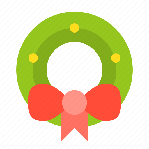 christmas, decoration, merry, ornament, wreath icon