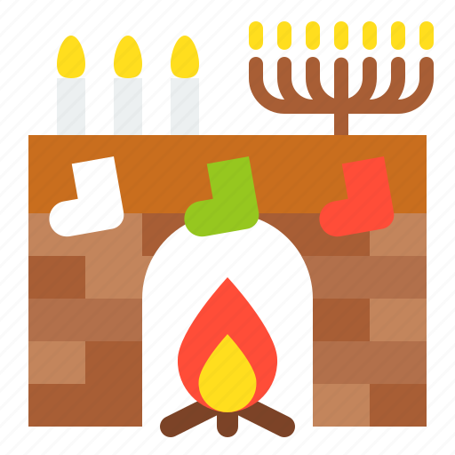 chimney, christmas, fireplace, merry, warm, xmas icon