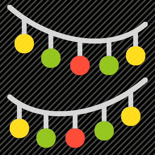 celebration, christmas, decoration, hanging ball, merry icon