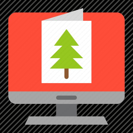 christmas, christmas card, greeting card, merry, screen icon