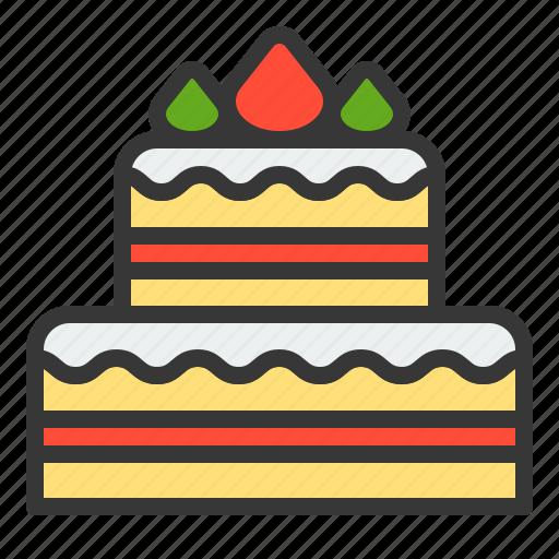 cake, christmas, dessert, sweets, xmas icon