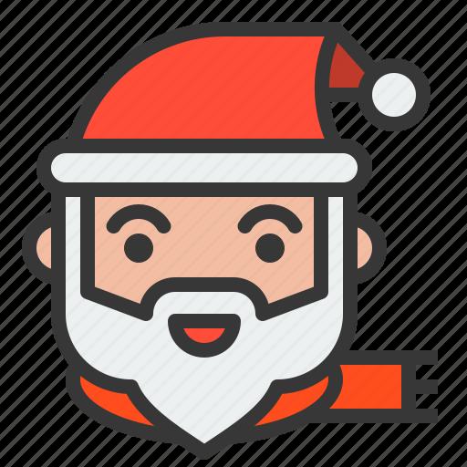 avatar, christmas, santa, santa claus, xmas icon