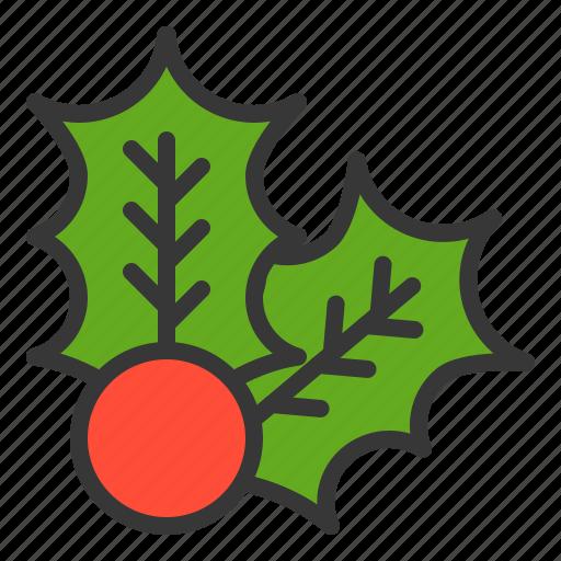 christmas, decoration, merry, mistletoe, xmas icon
