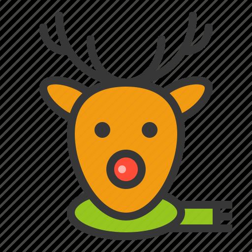 animal, christmas, deer, reindeer, xmas icon
