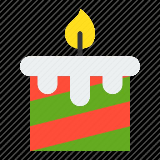 candle, christmas, light, merry, xmas icon