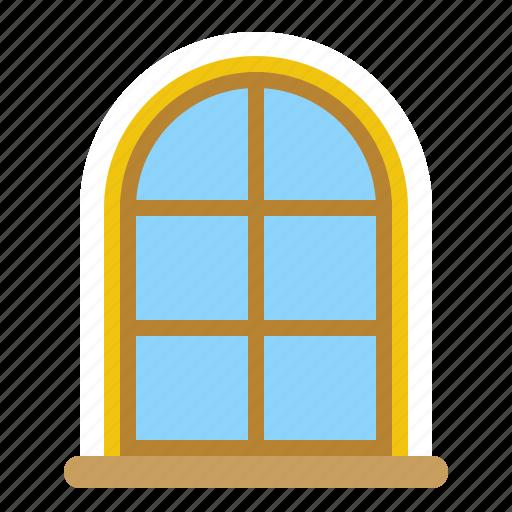 christmas, decoration, merry, window icon