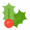 christmas, decoration, merry, mistletoe, xmas icon