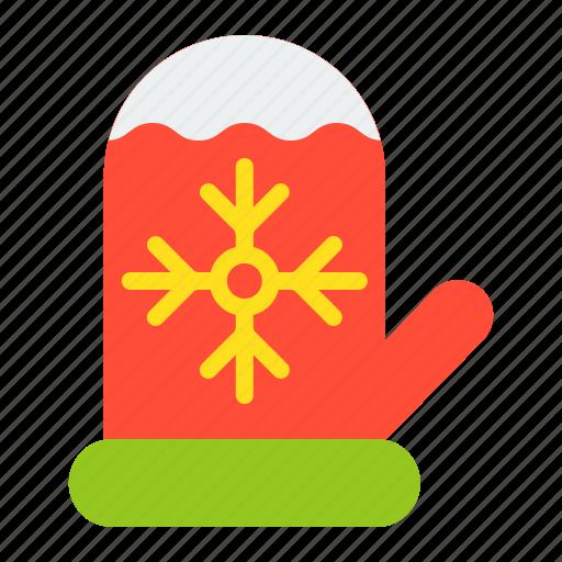christmas, glove, merry, mitten, winter, xmas icon