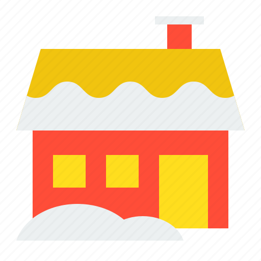 christmas, cottage, home, house, winter, xmas icon