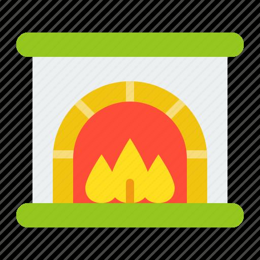 chimney, christmas, fireplace, merry, xmas icon