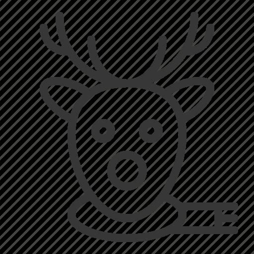 animal., christmas, deer, merry, reindeer, xmas icon