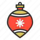 bauble, christmas, ornament, xmas icon