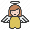 angel, christian, christmas, wings, xmas icon