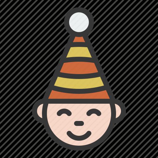 avatar, christmas, face, happy, xmas icon