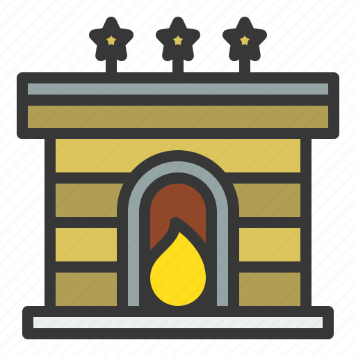 Chimney, christmas, fireplace, warm, xmas icon - Download on Iconfinder