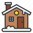 christmas, cottage, home, house, xmas icon