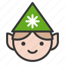avatar, christmas, elf, fairy tale, xmas icon