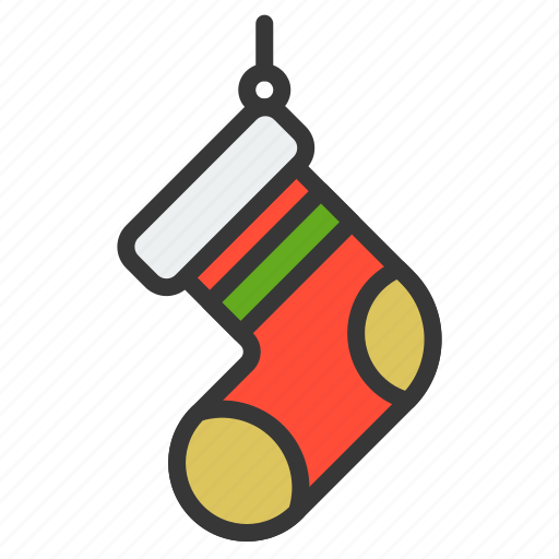 christmas, clothes, fasion, sock, xmas icon