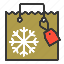 bag, christmas, gift, gift bag, shopping, xmas icon