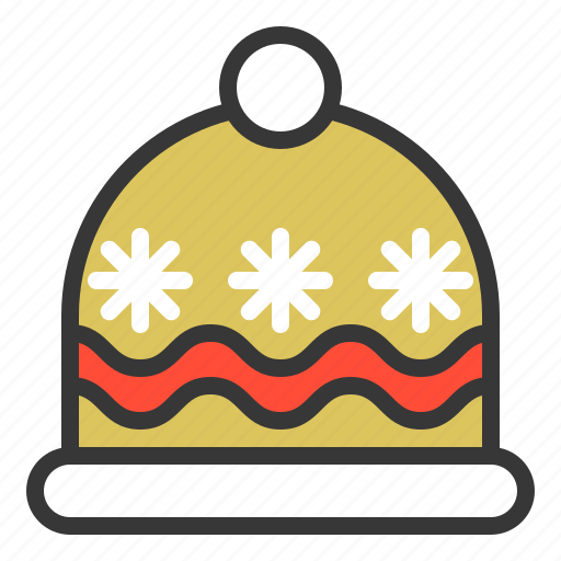 christmas, clothing, fashion, hat, wool hat, xmas icon