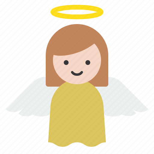 angel, christian, christmas, merry, wings icon
