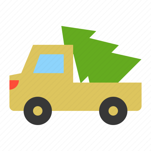 christmas, delivery, merry, transport, truck, xmas icon