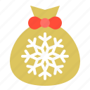 christmas., gift, gift bag, gift sack, merry, xmas icon