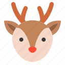 animal, christmas, deer, merry, reindeer, xmas icon