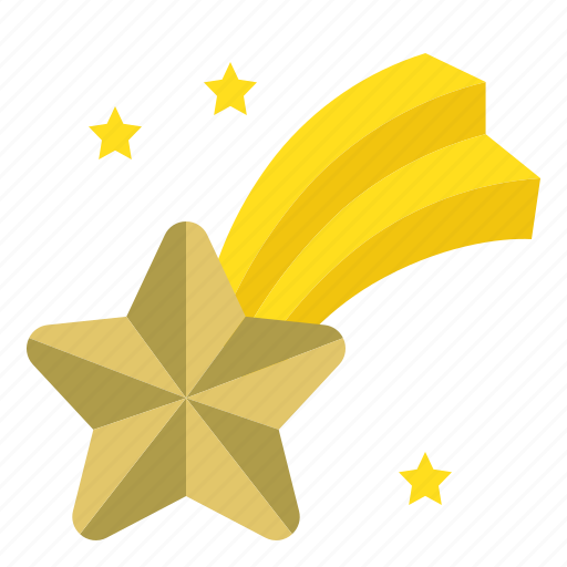christmas, comet, merry, star, star fall icon