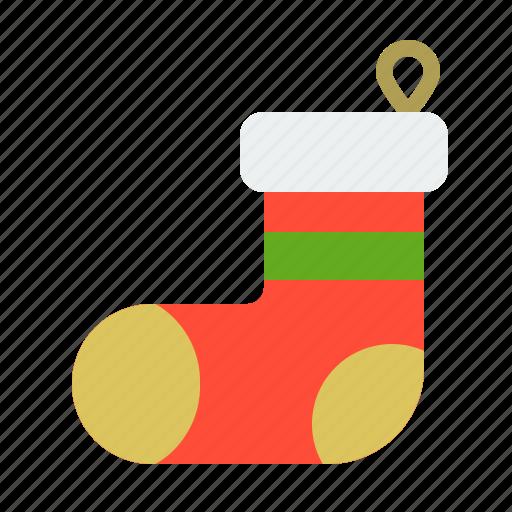 christmas, clothes, fasion, merry, sock, xmas icon