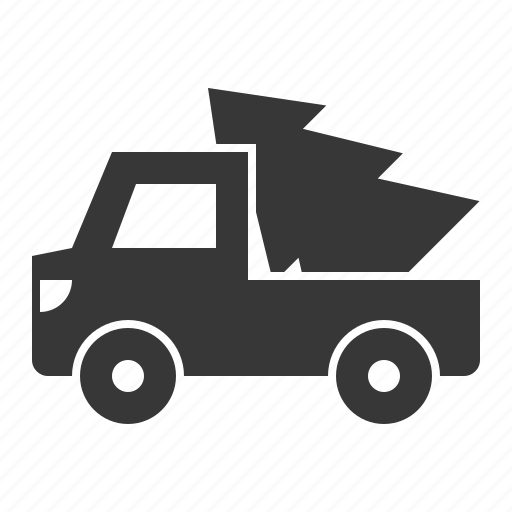 christmas, delivery, transport, truck, xmas icon