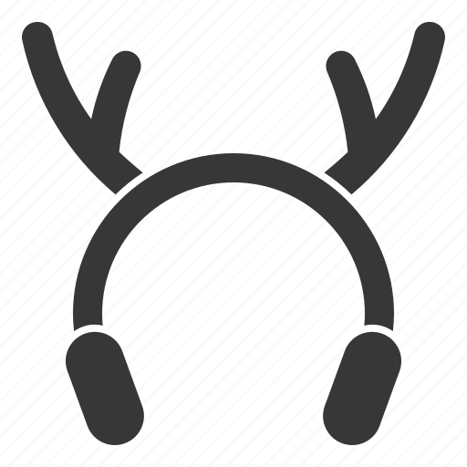 christmas, costume, deer horn, earmuffs, xmas icon