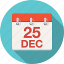 agenda, calendar, christmas, december, xmas icon