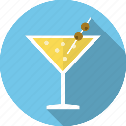 champagne, cocktails, drink, glass, martini, party, straw icon