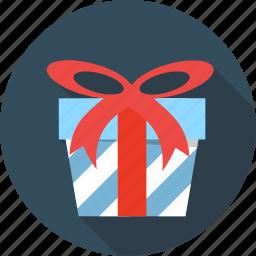 birthday, box, gift, giftbox, package, ribbon, souvenir icon